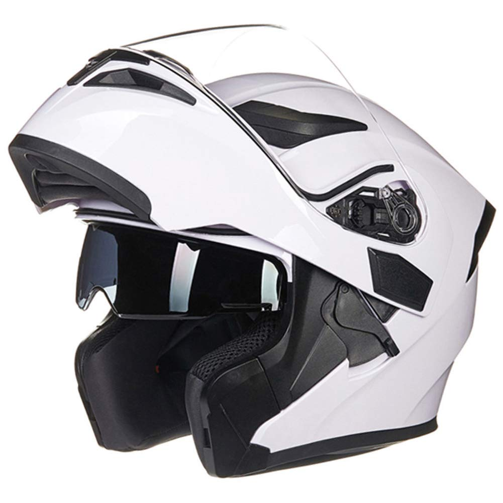 55-64cm Modular Helmet Motorcycle Flip-up Helmet with Double Lens and Removable Lining