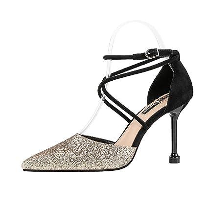 a8e8b4e151e02 Amazon.com: YXB Women's High Heels 2019 New PU Sexy Pointed Stiletto ...