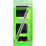 Dixon Ticonderoga Wood-Cased #2 Pencils, Pre-Sharpened, Box of 10, Black (13915)