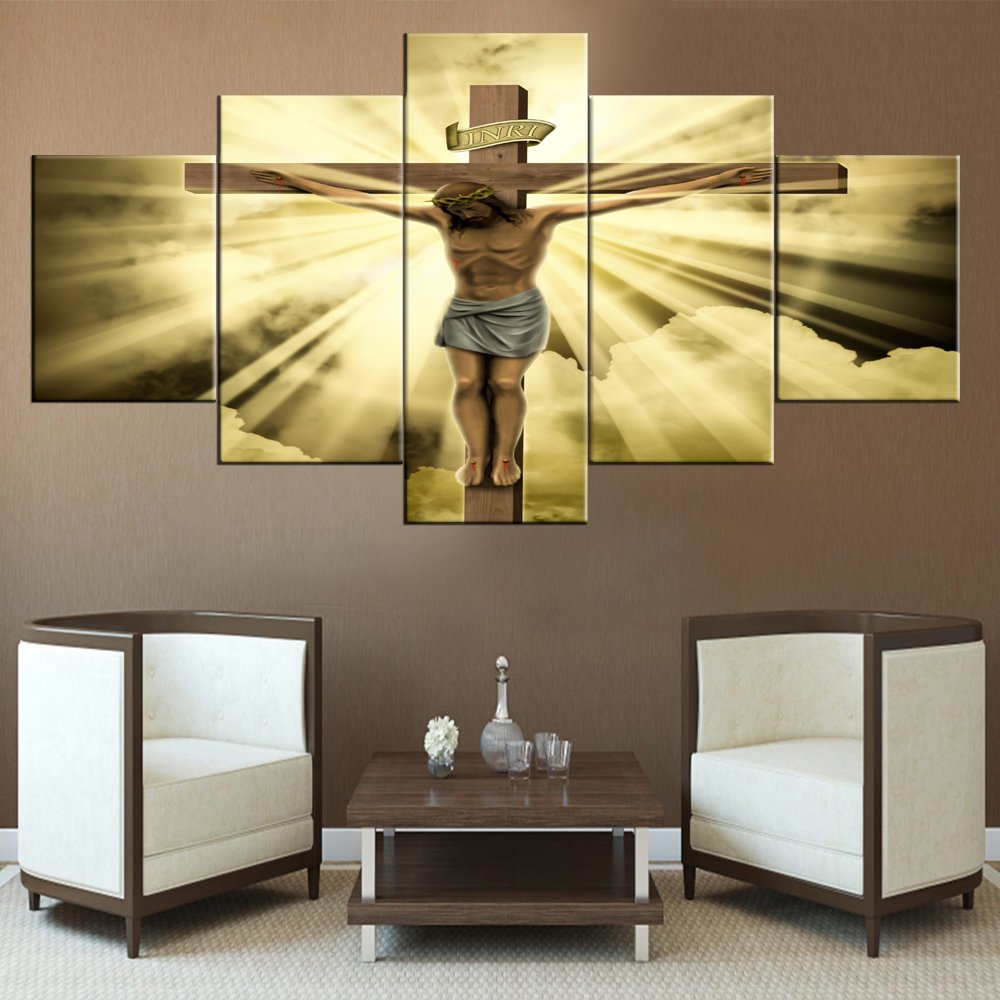 Amazon.com: House Decorations Living Room Wall Decor Jesus Crucified ...