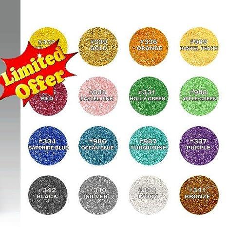 Quality Sprinkles Natural Comestible 16 Juego de Colores Tuercas ...