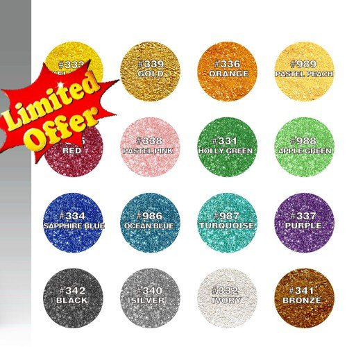 Natural Edible 16 Colors Set Nuts Dairy Soy Gluten GMO Sugar Free Glitter ... by Quality Sprinkles (Image #9)