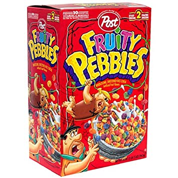 amazon com post fruity pebbles cereal 34 ounce box