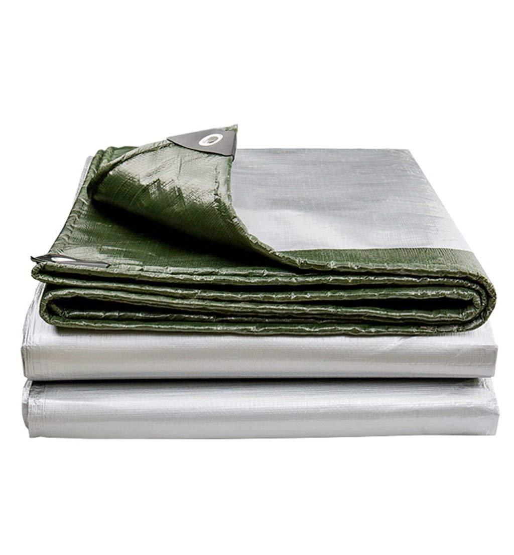 Nwn ヘビーデューティターポリン織り高密度ポリエチレンおよび二重ラミネートタープ、防水およびUV耐性布、複数サイズオプション - 190g /㎡(グリーン) (サイズ さいず : 3m x 6m) 3m x 6m  B07R4XPJ8G