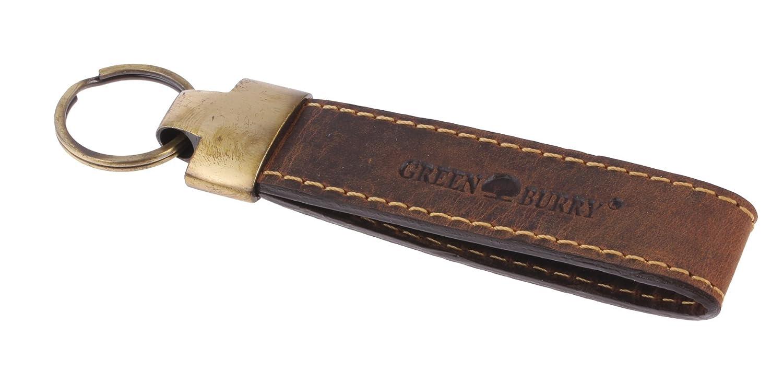 Greenburry Vintage Porte-Clés en cuir marron PA-Keyring-25