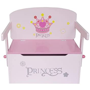 Surprising Bebe Style Wooden Princess Theme Convertible Toy Storage Bench Easy Assembly Dailytribune Chair Design For Home Dailytribuneorg