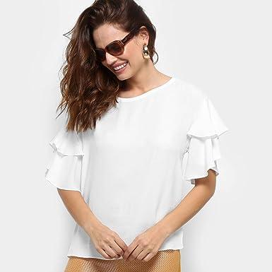 7a97c49221 Blusa Forum Babado Feminina  Amazon.com.br  Amazon Moda