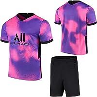 Voetbal Jersey Set Voetbal Shorts Pak Geen nummer Uit Spel Voetbal Sneldrogend Korte Mouwen Ademend Spel T-shirt