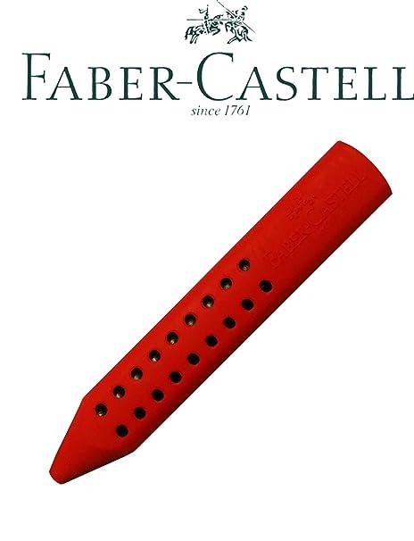 FABER-CASTELL 187101 Dreikantradierer GRIP 2001 rot oder blau