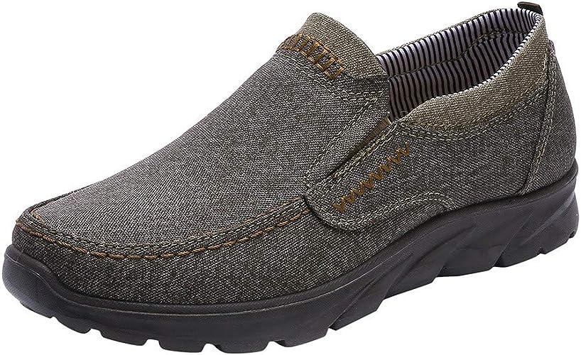 ZHANSANFM Herren Mokassin Bootsschuhe Slip On Breathable