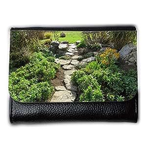 le portefeuille de grands luxe femmes avec beaucoup de compartiments // M00237756 Trayectoria del jardín Campo de piedra // Medium Size Wallet