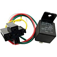 KESOTO 12V 40 Amp DC 5Pin Car SPDT Automotive Power Relay with Wires Harness Socket