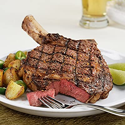 Kansas City Steaks Father's Day Steak Lovers Combo 4 (18oz) Frenched Bone-In Ribeye Steaks and 4 (22oz) T-Bone Steaks