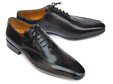 d3784bb6038d Paul Parkman Men s Black Leather Oxfords - Side Handsewn Leather Upper and Leather  Sole (ID