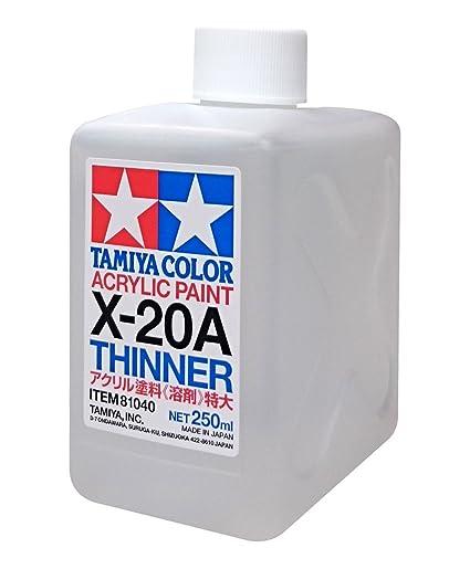 amazon com tamiya 81040 acrylic paint thinner x 20a 250ml bottle