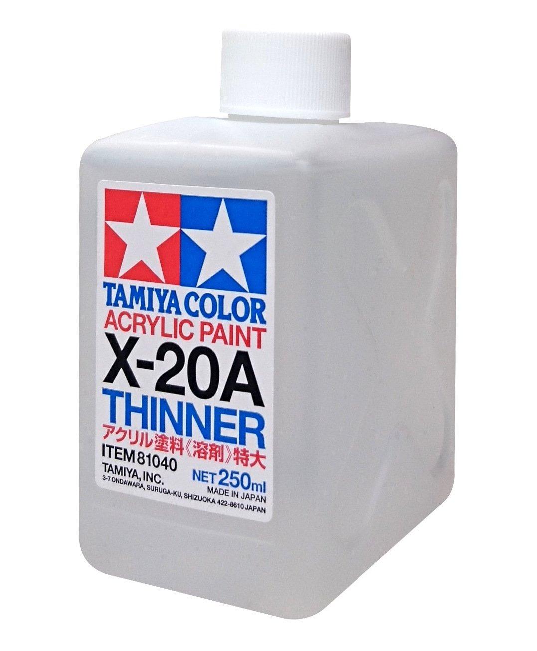 TAMIYA 81040 Acrylic Paint Thinner X-20A 250ml bottle