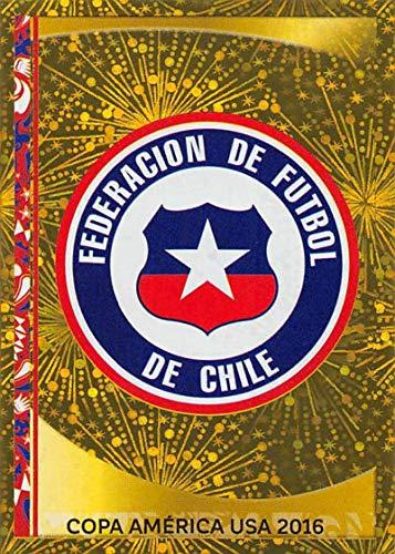 2016 Chile - 2016 Panini Copa America Centenario Soccer Sticker #326 Chile Foil Logo 2 Inch wide X 3 inch tall album sticker