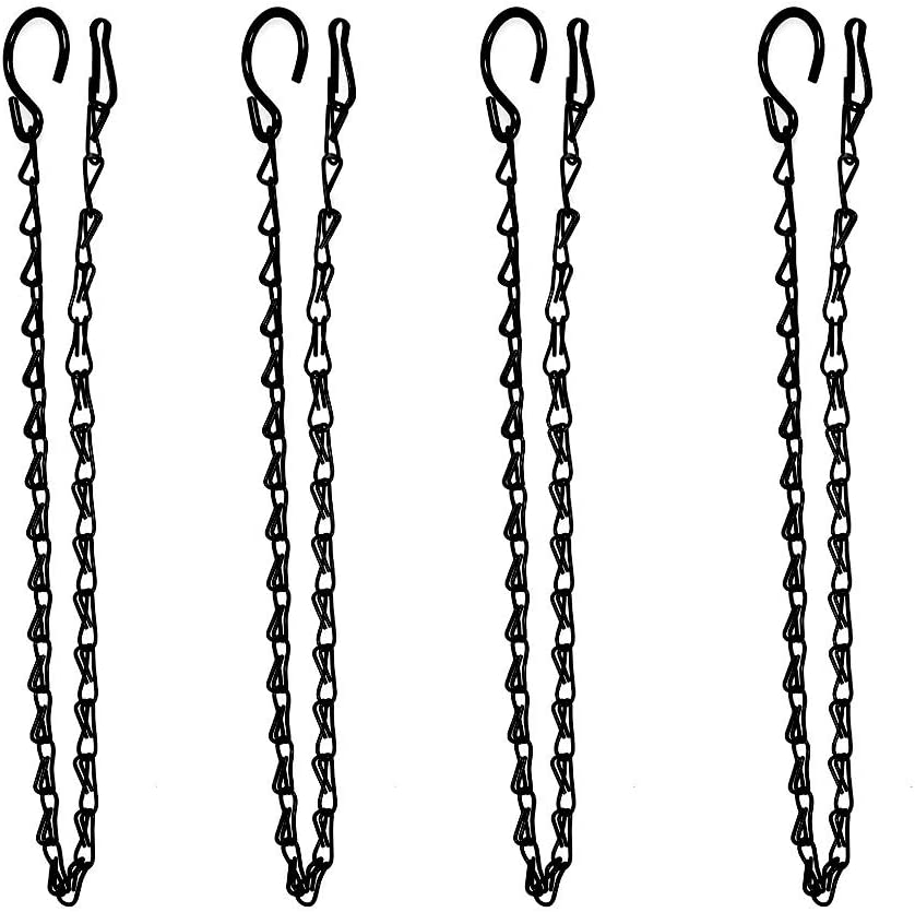 XDW-GIFTS 4-Pack Hanging Chain for Bird Feeders, Planters, Lanterns, Ornaments Fixtures, Lanterns, Suet Baskets, Wind Chimes 25 Inch