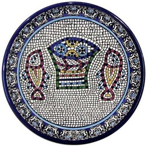 (Armenian Pottery ~ Large Loaves and Fish Plate.)