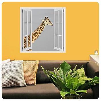 Amazon.com: Alonline Art - Africas Giraffe Fake 3D Window POSTER ...