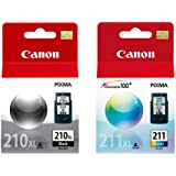 Kit Cartucho Canon PG 210XL Preto + CL 211XL Colorido Alto Rendimento Original 15ml