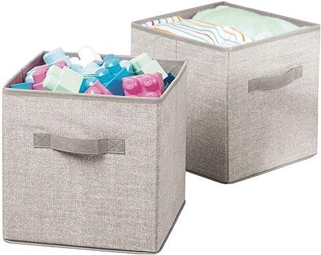 mDesign Juego de 2 Cajas de almacenaje para bebé – Prácticas Cajas para Guardar Ropa de niños