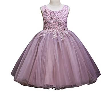 4fd7d7ffb5ed53 Si Rosa by Hopscotch Girls Polyester Cute Applique Sleeveless Dress in Pink  Color for Age 6