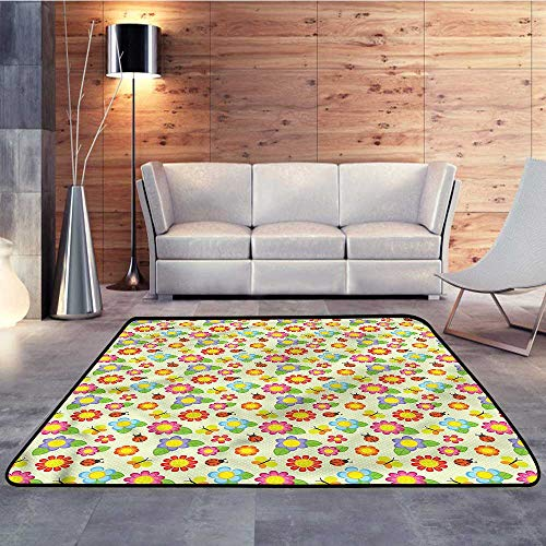 Rugs for Sale,Baby,Floral Ladybugs ButterflyW 63