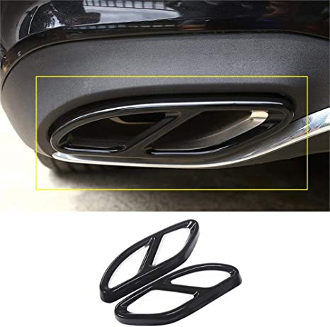 f/ür Mercedes-Benz W205 2015-2019 TAYDMEO 2-teilige Autoabgasschalld/ämpfer-Zierabdeckung aus Edelstahl