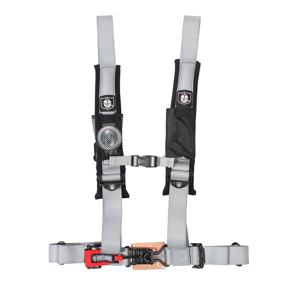 Pro Armor A114220SV Silver 4-Point Harness 2'' Straps by Pro Armor