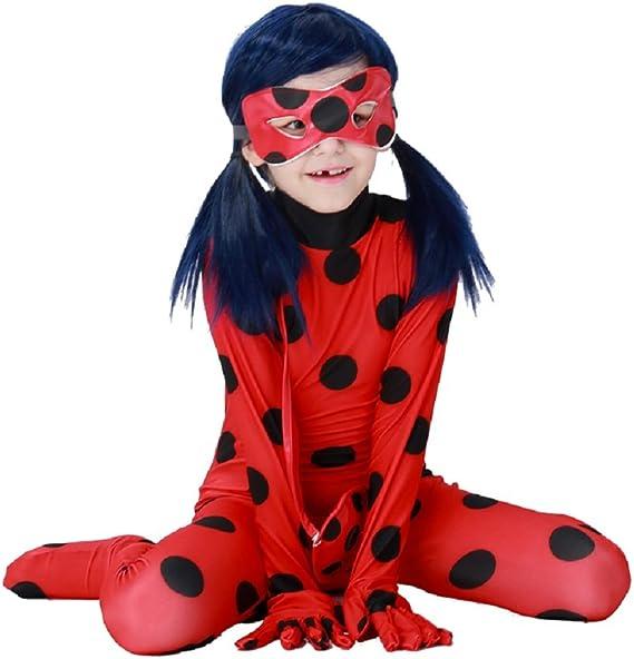Traje Disfraz Ladybug carnaval Halloween Niña - Talla M (4-5-6 ...