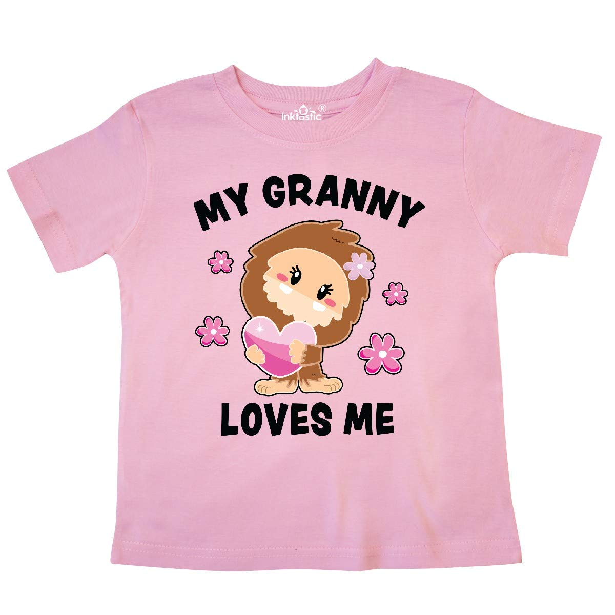 inktastic My Granny Loves Me with Bigfoot Toddler T-Shirt