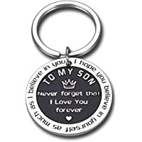 To My Son Inspirational Gifts I Love You Keychain From Step Mother Mom Dad Sweet 16th 18th 21st Birthday Graduation…