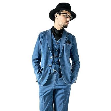 084b7d38974cb0 Amazon | デニムセットアップ [slowGan/スローガン][メンズ] | スーツ ...