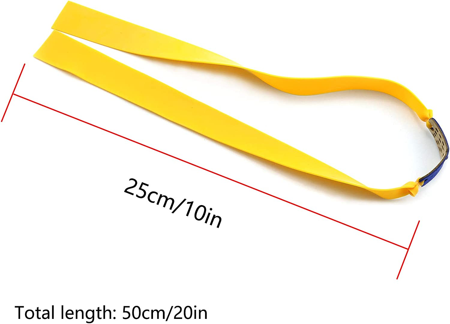 DZS Elec 12pcs Folding Yellow Flat Elastic Band 0.75mm Thickness Replacement Flat Rubber Bands for Slingshot Catapult