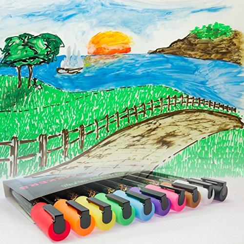 Liquid Chalk Markers Unique Bundle 10 Charming Paint Pens