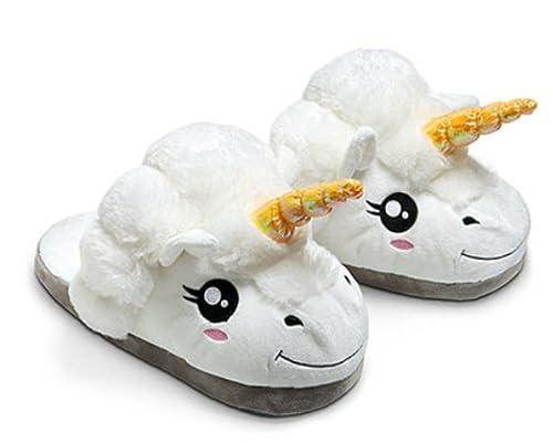 YOGLY Zapatillas de Algodón Unicornio Invierno Cálido Zapatillas de Estar por Casa Piel Suave de Mujer: Amazon.es: Zapatos y complementos