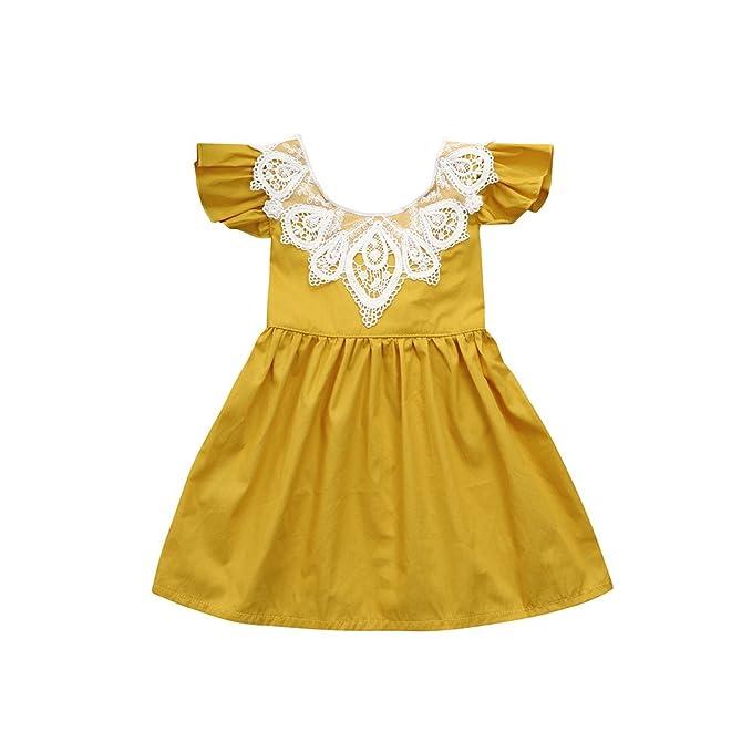 K-youth Vestidos para Niñas Bebes Ropa Bebe Niña Recien Nacido Fashion  Encaje Vestido Bebe 879a8ff069e0