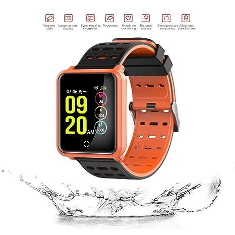 ZEERKEER Reloj Inteligente con Pulsómetro,Fitness Tracker con cronómetro,Impermeable IP68 Reloj inteligente,