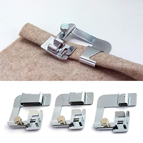 Prokth® 3 tamaños de pie de cáñamo para máquina de coser, prensatelas de presión