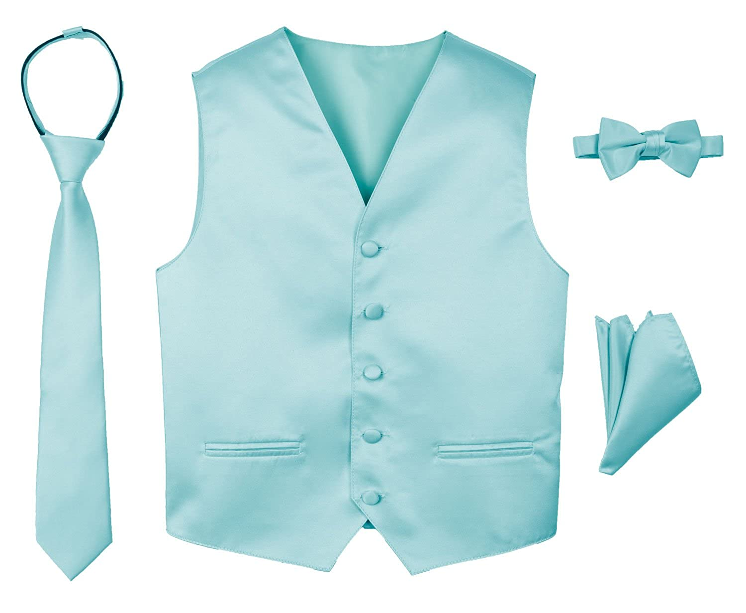 Amazon.com: Spring Notion Boys\' 4-Piece Satin Tuxedo Vest Set: Clothing