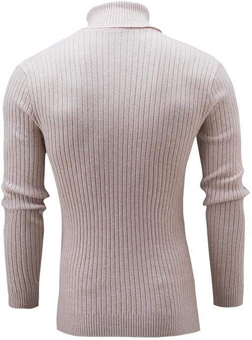 Fubotevic Mens Knitted Contrast Slim Half Turtleneck Fall /& Winter Pullover Sweater Jumper