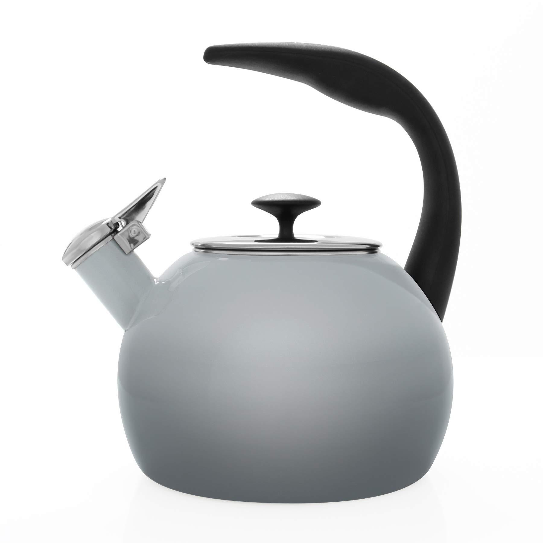 Chantal 37 OM FG Heath Teakettle Enamel-On-Steel 2-Quart Fade Grey