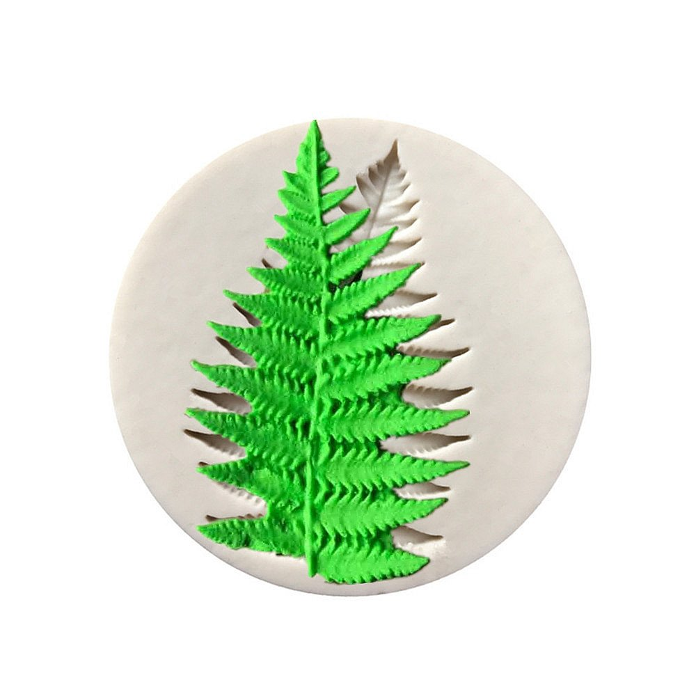 Fern Leaf Clay Silicone Mold, Epoxy Resin, Pendant Mold with Jewelry Molds,Earring Necklace Making and DIY Craft Making,Fondant Candy Mold Aouke