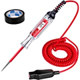 JASTIND Heavy Duty 3-48V Digital LCD Display Circuit Tester with 140 Inch Extended Spring Wire,Car Truck Vehicles Low…
