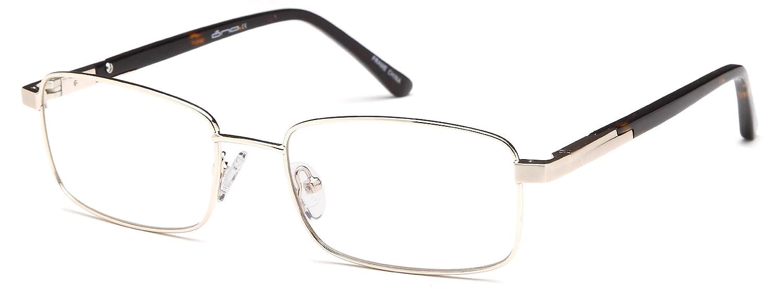 372ee6ce00cb Amazon.com  Unisex Rectangular Glasses Frames Black Prescription Eyeglasses  Rxable 54-18-140  Clothing