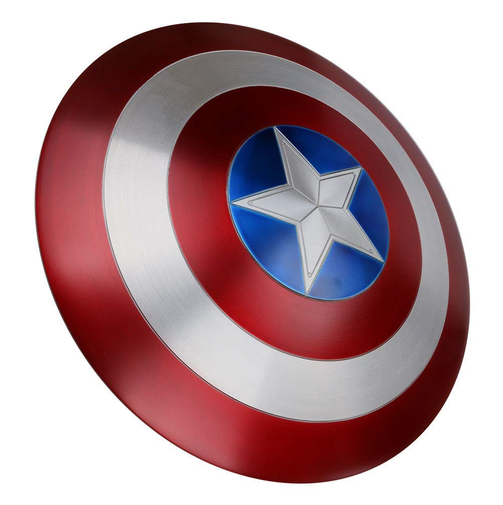 Gmasking 2019 Metal America Decoration Adult Shield 1:1 Replica Cosplay Props Red