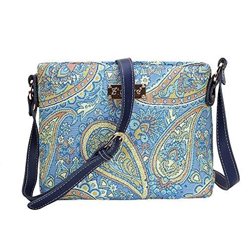 Signare Cachemir de mujer para messenger tapiz bandolera mano bolso hombro bolso de en Bolso moda de Floral qHXCpa