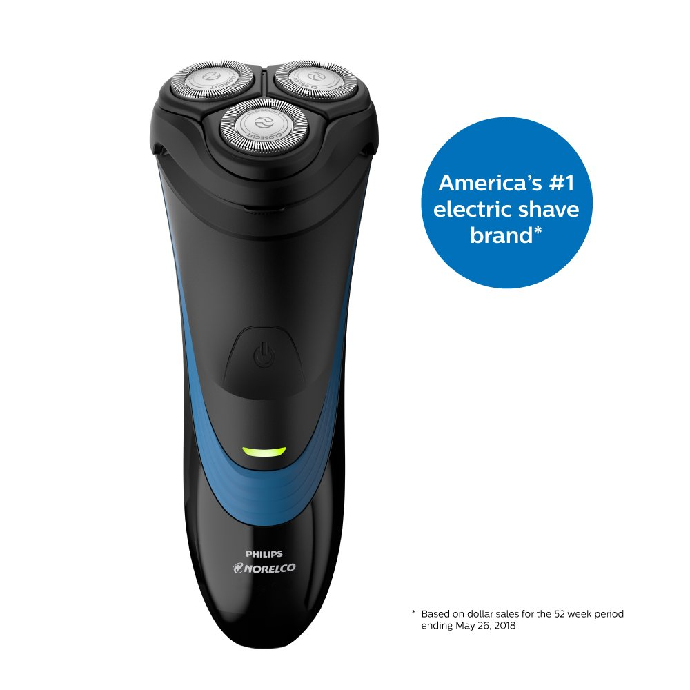 Philips Norelco Shaver 2100 Rechargeable Wet Electric Shaver, with Pop-up Trimmer, S1560 81