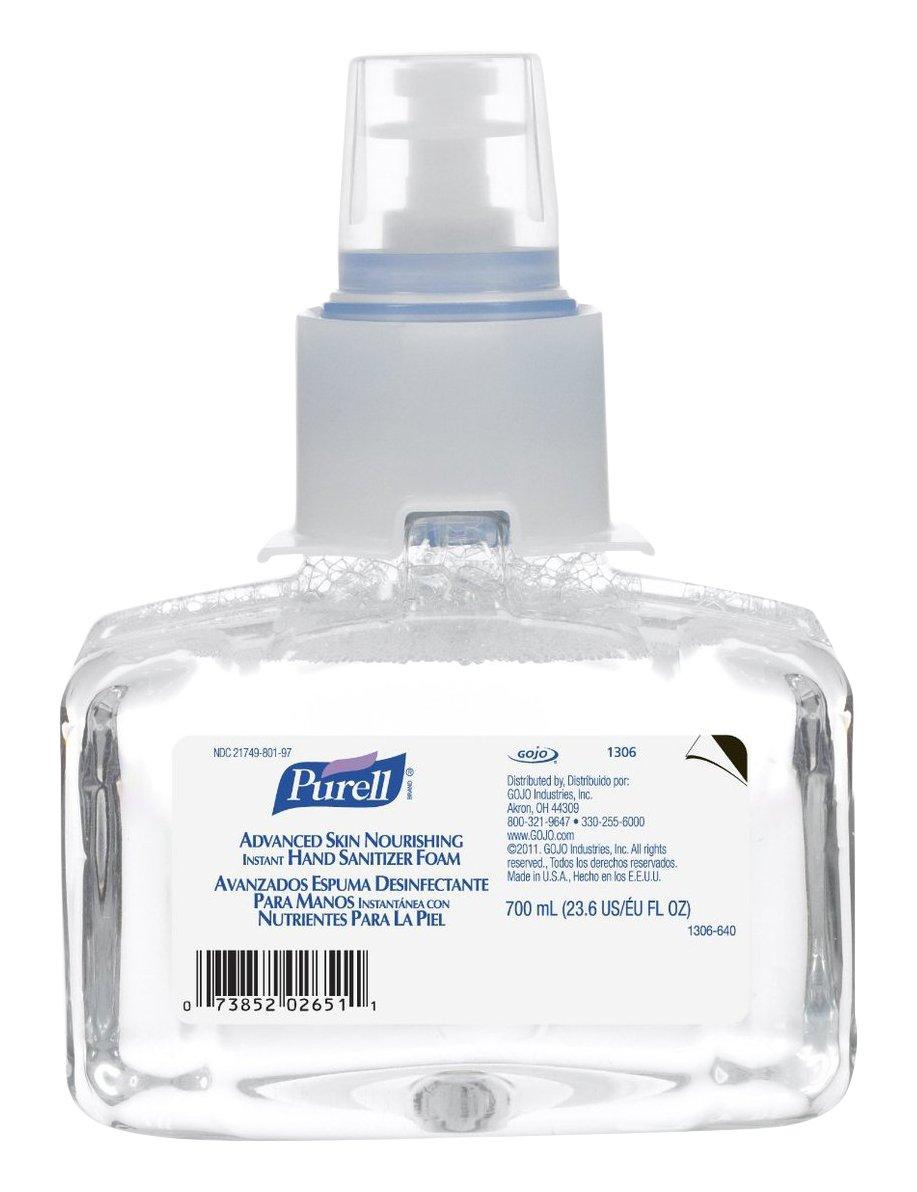 Gojo Industires 1306-03 PURELL LTX Hand Sanitizer Foam Refill, 700 mL Capacity (Pack of 3)